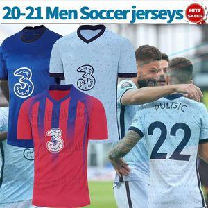 20 21 ABRAHAM Soccer Jerseys league match soccer shirts PULISIC GIROUD KANTE customized Men Football uniforms On sale