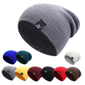 Cokk вязаные женские зимние мужчины черенок шапочки теплые повседневные вязаные крючком шапочки шляпа женские мешковатые кепки