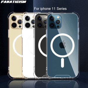 Shockproof Magnetic Case For iPhone 11 Pro Case 11 pro max 11pro MagSafe Charger Cases Transparent Clear Soft Cover Coque