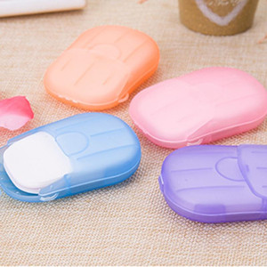 Disposable Soap Paper Clean Scented Slice Foaming Box Mini Paper Soap For Outdoor Travel Use Color Random TSLM2