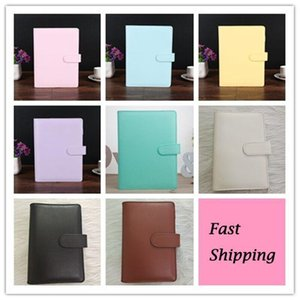 A6 8 Colors Creative Waterproof Macarons Binder Hand Ledger Notebook Shell Loose-leaf Notepad Diary Stationery Cover School Office Supplies