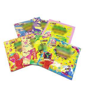 7 стилей Stoner Pat Детские чайники Gummy Embizbles упаковочные сумки встать на медью Mylar Edibles Skintles Shotles запах каннабурста сумки