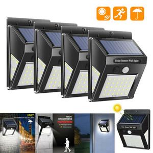 Sensore ad energia solare Pir Motion Sensor Outdoor Illumination Garden Yard Wall Smart Security Impermeabile a 3 lati 30 40 60 LED Solar Pannelli Potenza notte Lampada da notte