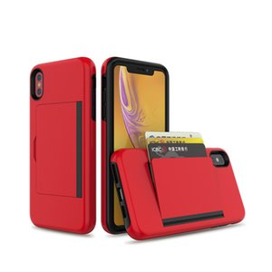 2019 New Arrival Shockproof Phone Case Accessories Mobile Phone Shell with Card Slot for iPhone XS max