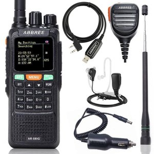 ABBREE AR-889G GPS 10W Powerful Walkie Talkie Cross Band Dual Band Long Range Portable Ham Two Way Radio Communicator1