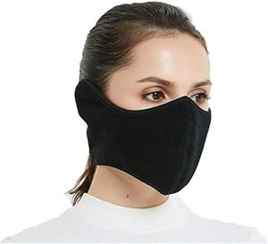 Windproof Fleece Face Cover Unisex Adults Cycling Motorcycle Ski Outdoor Sport Winter Half Face Mask with Earflap Soft