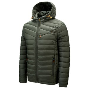 DARPHINKASA Winter Casual Solid Color Hooded Parka Coat Thick Warm Men Jacket 201118