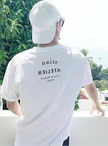 2021 Fashion Mens Designer T Shirt Men Women High Quality Casual Short Sleeve Letter Print Mens Hip Hop Tees luxe Clothes 2 Color