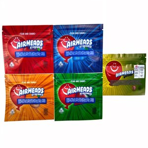 Hot sale AIRHEADS Mylar Bag Package Edibles Pouch Empty 400 408MG Bags 5 Design Airheads packaging bags free shipping