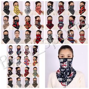 38 стилей женщины шарф маска для лица велосипедного платка на открытом воздухе на открытом воздухе ветрозащищенные половинные шарф маски для пылезащитные солнечные навесы на солнце