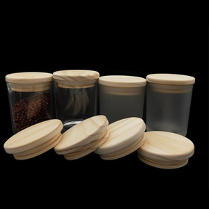 Copertura in legno sigillato Natural Eco-friendly Bamboo Tazza di bambù Coaster Barrel Lid Seal Cover Cover Mug Stoccaggio Tankscover