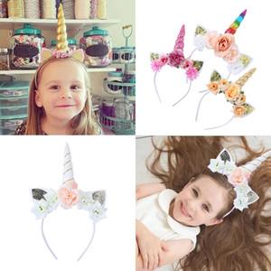 Cute Cartoon Unicorn Flower Cat Ears Hairbands For Girls Party Headband Children Ornament Selfie Prop Kids Hair Accessories