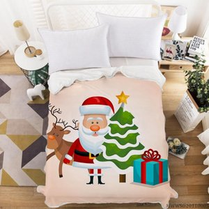 Hot Sale Christmas Blanket Super Soft Cozy Warm Plush Throws Sofa and Bed For Kids gifts Home Textile