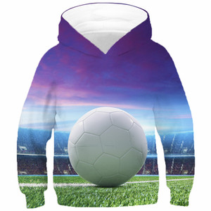 Children Football Soccer Fire Hoodies Boys Girls Hooded Sweatshirt Autumn Spring Kids Baby New Fashion 3D Print Pullover Clothes F1202