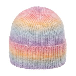 children's Korean version raiow gradient wool autumn winter warm versatile tie dyed knitted damp cold Hat