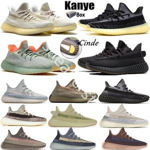 Nouveau Top Kanye V2 Ash Stone Blue Pearl Fade Fade Israfil Sulfur Show Shoes de course Zyon Carbon Naturel Terre Cendriers Réfléchissant Baskets Baskets