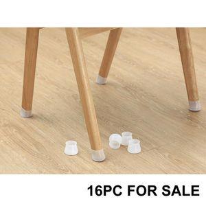 16pc Sedia da tavola Gamba tappo in silicone tappo in silicone Mobili Piedi Piedi Cover Pellicola Proteggi per pavimenti Sedia antiscivolo Tappo tappetino per tappetino