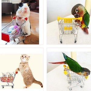 Хомяк птица творческий симулятор Мини-попугая Детя для детей Handcart Toy Mell Supermarket Коммунальная тележка Притворись