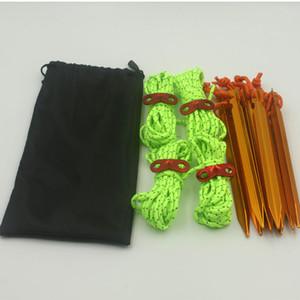 18 cm esterno stabile triangolare Prism Peg e corde Kit Kit Tent Accessori 7 Series Tenda in alluminio Stake con corda riflettenti