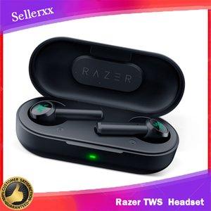 Razer Hammerhead True Wireless Headphones TWS Bluetooth 5.0 IPX4 In-Ear Earbuds Built-in Microphone On Off Switch Earphone Headsets DHL