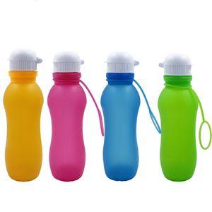 Sports Water Bottle Silica Gel Folding Kettle Outdoor Sport Travel Portable Multi Colors Water Cups New Arrival 15 7lj L1