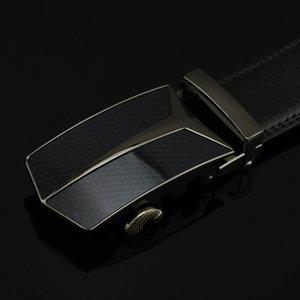 [DWTS] Cuero Original Brand Designer Hombres Cinturón Aleación Automática Hebilla Correa Lujo Cuero genuino Cintura ancha
