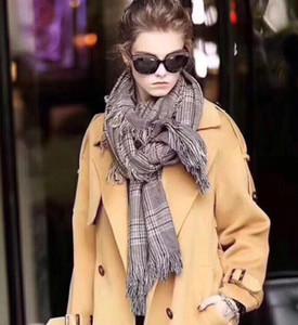 Autumn and winter Plaid Scarf fashion warm long tassel scarf