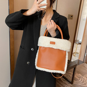 HBP Fur Plush Cute Small Shoulder Bag Women Kawaii Handbags Fashion Autumn and Winter Casual Crossbody Bags Purse 4 Color High Quality