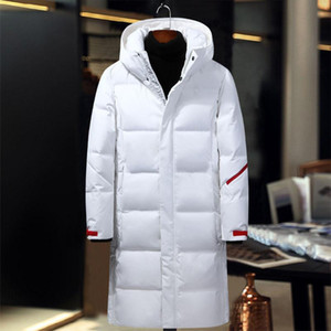 X-Long Winter jacket for men white grey black brand Asstseries men' down jacket fashion men's windbreaker outerwear long coat