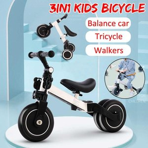 Infant Children's Tricycle 3-in-1 3 Wheels Children Scooter Balance Bike Walker 2-5 Years Ride on Car Bicycle for Kids Outdoor