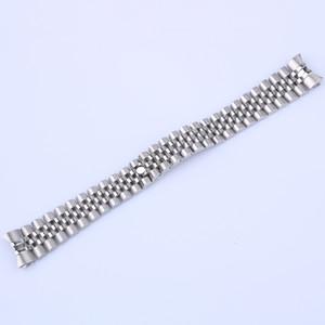 Datej 36mm (20mm) / Datej 41mm (21mm) 316L Paslanmaz Çelik Jubilee Gümüş Altın Bilek İzle Band Kayışı bilezik Katı Vida Linkler CurvedEnd İçin