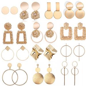 Fashion Statement Earrings 2020 Big Geometric Round Earrings For Women Hanging Dangle Earrings Drop Earing Modern Female Jewelry