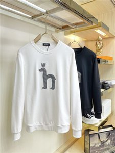 H10 20ss Moncl sweater men's letter Embroidery print casual sports loose hooded long-sleeved sweater men and women Size M-3XL