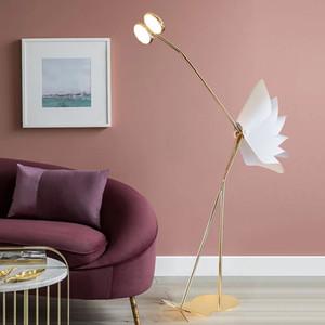 Lampes de plancher d'autruche post-moderne Nordic Simple Standing Lampadaires pour salon Chambre à coucher Décor Home Decor Feux de plancher d'autruche