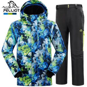 Free shipping 2020 Pelliot male ski suits jacket+pants Men's water-proof,breathable thermal cottom-padded snowboard