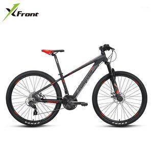 Велосипеды X-Front Mountain Bike 27.5 / 29 дюймов колесо алюминиевый сплава рама дисковые тормозные демпфирование вилка MTB велосипед спортивные состязания в бисиболе