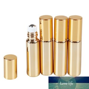 Aihogard Mini 10ml Vider revêtement bouteilles rechargées UV Gold Container rouleau sur la bouteille pour parfum Huile essentielle de parfum