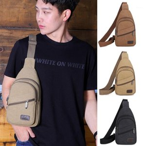 Moda Casual Men's Chesst Bag Solid Cremallera Ajustable Durable Bolso Hombro Crossbod Casual Travel Sports1
