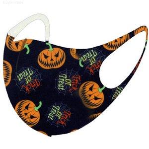 Helloween рот рождественские олень снежинки тыква Хэллоуин печатанные лица маски мультфильм анти пыль Xmas Mask Cover IIA635