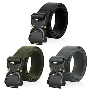 2020 New Elastic Belt Official Genuine Hard Metal Quick Release Buckle Men's Tactical Belt Men's Accessories Dropshipping