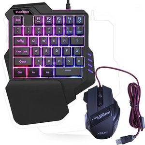 2020 New One-Handed Gaming Keyboard RGB Backlit Portable Mini Gaming Keypad Ergonomic Game Controller for PC PS4 Xbox Gamer1