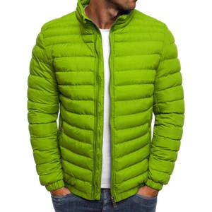 ZOGAA Mens Parka Winter Coat Cotton Puffer Solid Plus Size Overcoat Zipper Streetwear Casual Jacket Men