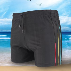 Men's new casual Shorts 3   4 lace up beach pants quick dry men's hot spring vacation quick dry pants swimming trunks fashion