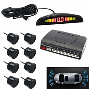 LED Display Front And Rear 8 Sensor Parking System car