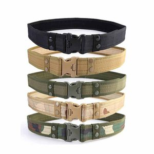 New Combat Canvas Duty Tactical Sport Belt with Plastic Buckle Combat Army Adjustable Outdoor Waistband