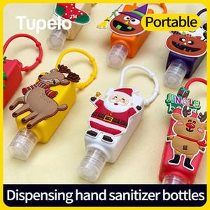 5pcs set Cute Cartoon Mini Hand Sanitizer Split Bottles Portable Detachable Cover Silicone Bath Shower Hand Gel Holder
