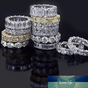 Luxury Wedding Band Eternity Ring for Women Big Gift for Ladies Love Wholesale Lots Bulk Jewelry R5578