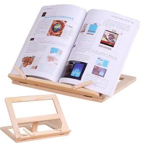 Telaio di lettura in lana Regolabile Legno Stand Supporto Supporto portatile Laptop Tablet Studio Cook Recipe Books Stands Stand Desk Drawer Organizzatori EWC3894