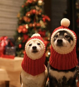 Winter Pet Dog Cap Hat Christmas Warm Small Cat Dog Hats Pug Dog Accessories for Small Medium Large Man Czapka Dla Psa Red Color