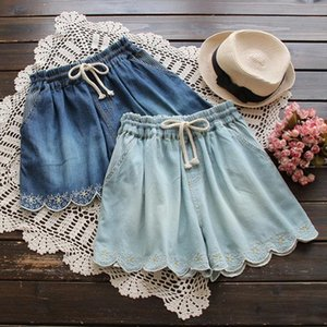 Forest embroidery floral cotton denim shorts women summer 2019 new arrivals 2colors Drop Shipping Good Quality